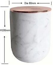 White Marble Candle Vessel Holder with Lid