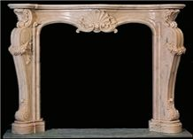 Beige French Style Fireplace-Rsc060 Marble