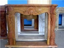 Brown Marble French Style Fireplace-Rsc050