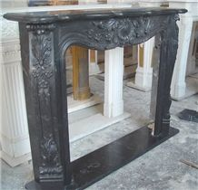 Brown Marble French Style Fireplace-Rsc063 Marble