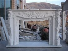 French Style Fireplace-Rsc067 White Marble