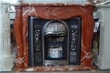 French Style Red Fireplace-Rsc102 Marble