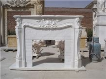 French Style White Fireplace-Rsc124 Marble