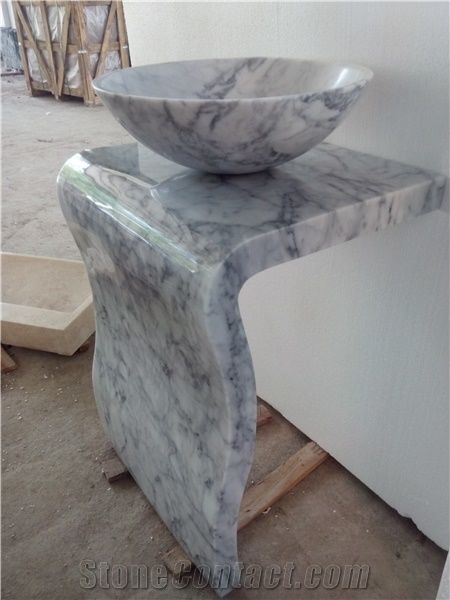 Grey Marble Pedestal Vessel Sink From China Stonecontact Com