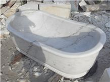 White Marble Stone Freestanding Bathtub Price