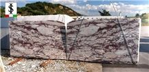 Arabescato Viola Marble Tiles & Slabs, White Ground Red Veins Marble Floor Covering Tiles, Walling Tiles