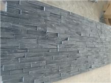 Natural Split Chinese Black Slate Cultured Stone / Z Shape Culture Stone for Wall. Competive and High Quality Culture Stone and Manufacturer