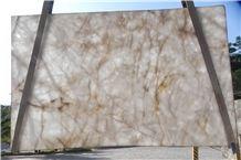 Cristallo Quartzite Slabs, Brazil White Quartzite