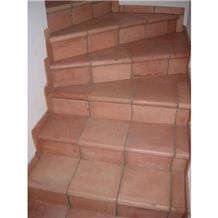 Handmade Cotto Mexican Terracotta Stair Tiles