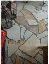 Sao Tome Quartzite Polygonal Plates Patio Pavement