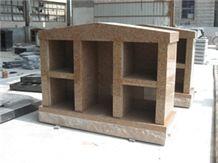 Tianshan Red Granite Family Columbarium Cremation Columbarium Niche Four
