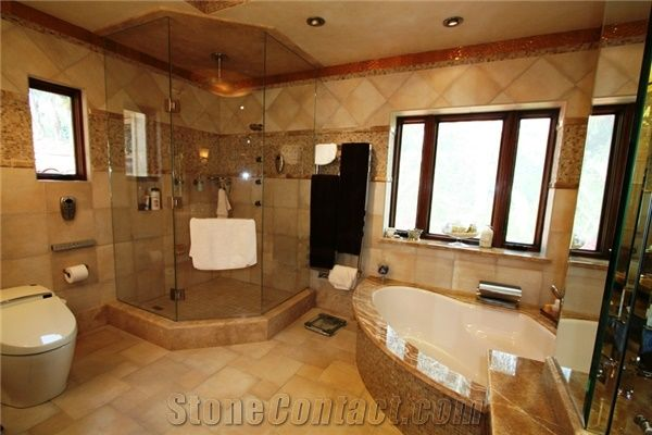 Honey Onyx Bath Tub Deck Tub Surround Yellow Onyx