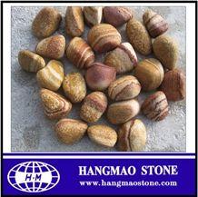 Pebble Sandstone Yellow Wood Grain Sandstone Landscape Pebble Stone
