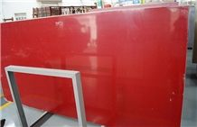 Pure Red Quartz Stone Slab/Quartz Stone Slab/Engineered Stone Slab/Artificial Stone/Solid Surface Top/Silestone