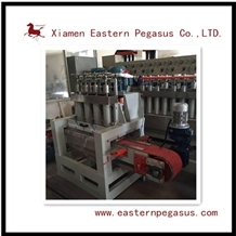 Mosaic Calibrator Produced in China, New Type Stone Processing Machines, Automatic Stone Calibrator, 4-Spindle Mosaic Finishing Machine with 120mm Max. Calibrating Width Tjpg-120d