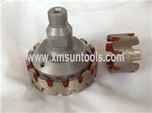 Cnc Stubbing Wheel with Slot,Continuous Cnc Router,Double Layer Stubbing Wheel