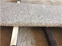 China Original G603 Granite Flamed Bullnose Pool Coping,Silver Grey Granite,Sesame White Granite,Crystal Grey Granite,Light Grey Granite Flamed Bullnose