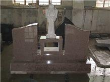 China Mahogany Granite Monument,Qilu Red Granite Monument, American Style Red Granite Monument&Tombstone