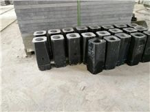 Shanxi Black Granite Monumental Funeral Vases and Urns