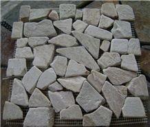 White and Grey Mosaic Pebble Mosaic