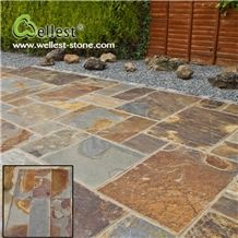 China Factory Best Price Popular Rusty Slate Pavers Pattern for Exterior