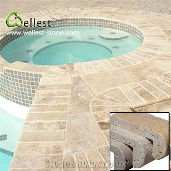 Surface Beige Travertine Swimming Pool