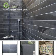 High Quality Honed Surface Black Slate Bathroom Wall Tile