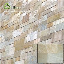Hot Selling Yellow Wood Slate Flat Tile Pattern for Exterior Wall