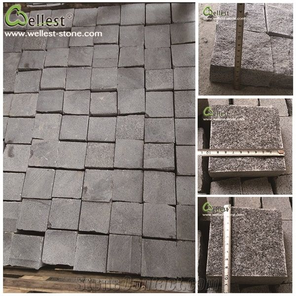 Rocky Ice Price G654 Granite Cube Stone Cobble Walkway