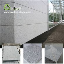 Wholesale Factory Customized Flamed Finished G603 Lunar Pearl Grey Granite Tile