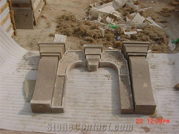 Cafe Cantera Fireplace Mantel From Mexico Stonecontact Com