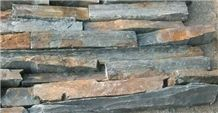 Fargo Multicolor Slate Loose Ledge Stone, Rust Slate Strips Stone, Rusty Slate Brick Stacked Stone, Multicolor Slate Loose Stacked Stone, Loose Fieldstone, Loose Cultured Stone Wall Cladding Stone