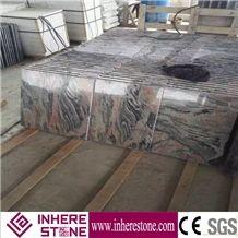 China Multi-Color Red Grey Granite Polished Tile & Slab