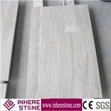 China Wooden White Marble Polished Flooring & Walling Tiles, Siberian Sunset Marble Slabs & Tiles