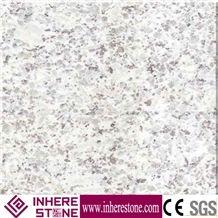 Chinese White Pearl Granite Tiles & Slabs, G3609 White Granite, Pearl Flower White, Lily White Stone Exterior Tiles