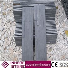 Decorative Wall Black Slate Natural Culture Stone,Wall Cladding Split Face Culture Stone