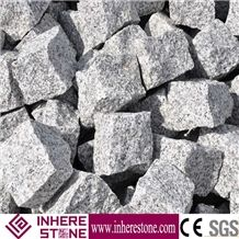 G603 Granite Cobblestone,China Grey Granite Curbs,Monte Bianco,Mountain Grey,White Of Bacuo Jinjiang,Padang Crystal,China Bianco Sardo White Cuube Stone