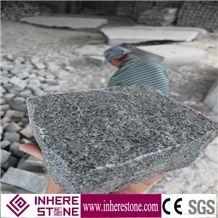 G654 Granite Cube Stone Chinese Cheap Granite Natural Split Surface Paving Stone, Driveway Grey Granite Cube Paving Stone