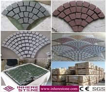 Hot Sale Granite Paving Cube Stone with Net