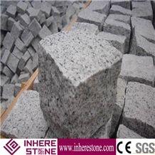 Hot Sale Gray Granite G602 Natural Split Cube Stone, China Grey Sardo,Mayflower Snow,Nanan Mayflower Snow,Nanan Snow Plum Cobble Stone Nature Face