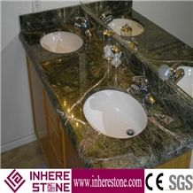Marble Bath Top, Rain Forest Green Marble