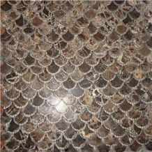 Natural Marble Stone Fish Scale Mosaic Tile