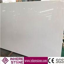 Polished Pure White Nano Crystallized Glass Stone Slabs