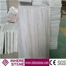 Yunnan White Marble Tile with Cross Veins, Chinese White Marble