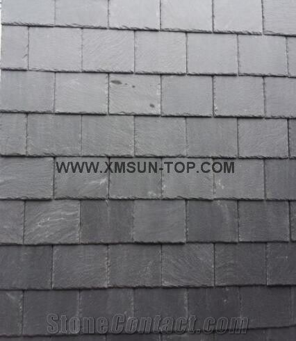 Chinese Roofing Slate Grey Tiles Dark Roof Tile Square Covering And Coating Stone