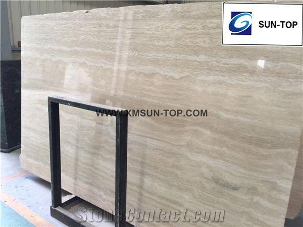 Rome travertine slab tile beige polished travertine big slabs tiles