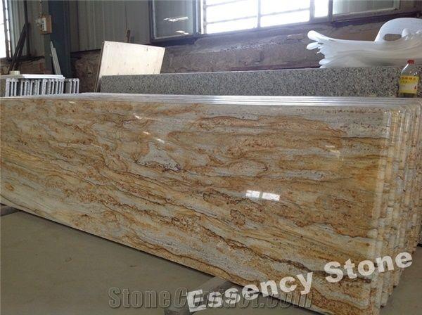 Brazilian Juparana Golden River Granite Countertop Prefab