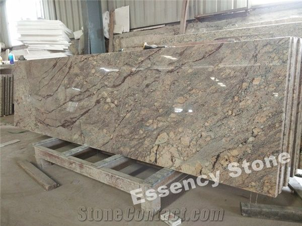 Chocolate Bordeaux Granite Countertop Prefab Persa Brown