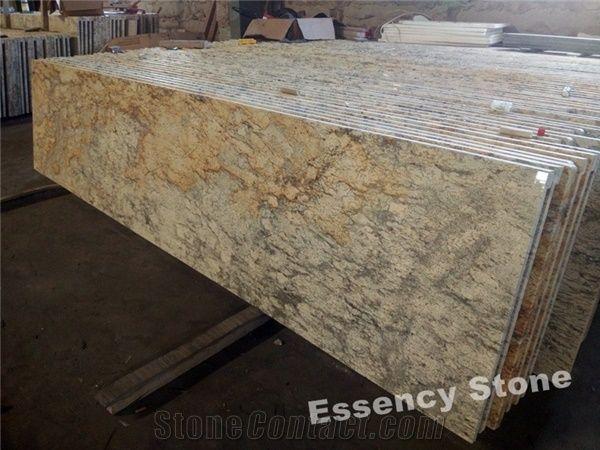 Golden Beach Sand Granite Countertops Sahara Diamond Gold Bathroom Vanity Tops Giallo Seam Counters And Vanities