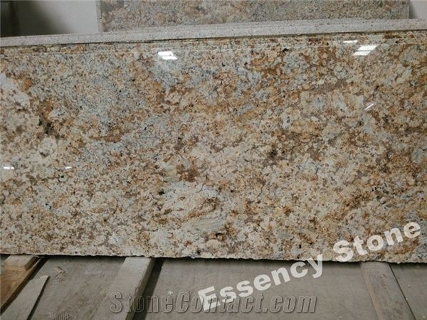 Golden Persa Granite Countertop Antique Gold Kitchen Worktops Caux